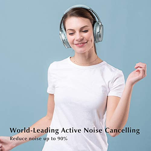 Noise Cancelling Headphones Wireless Bluetooth 5.0,Fast Charge Over-Ear Lightweight Srhythm NC35 Headset with Microphones,Mega Bass 40+ Hours' Playtime -Low Latency 41bJsfmXeYL