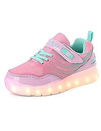 Unisex Children Fashion LED Light Up Shoes USB Charge Sports Flashing Sneakers