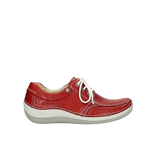 Leather Wolky Red Coral 257 Coral Wolky CxpqXwXYP