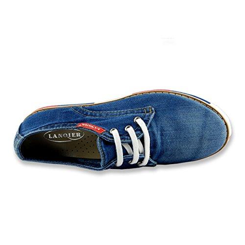 De Lanqier Vrouwen Schoenentennisschoen Jeans Blauw Maat 40 Eu
