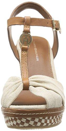 Tommy Hilfiger EMERY 71C - Sandalias de vestir de lona para mujer beige - Beige (NATURAL 104)