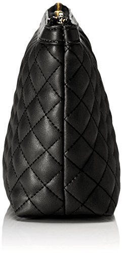 Love Moschino Bustina Nappa Pu Trap.nero - Borsette da polso Donna, Schwarz (Black), 13x25x7 cm (L x H D)