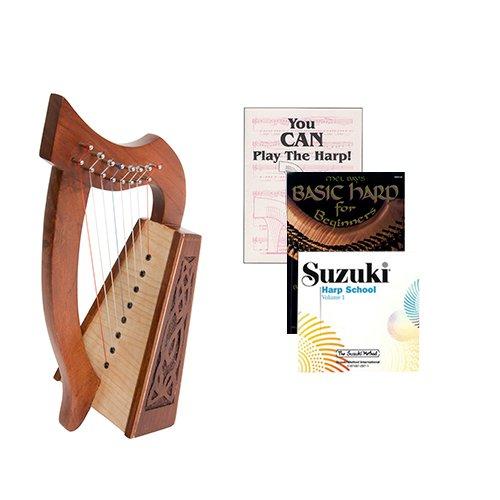 Homeschool Music Lily Harp w/Introduction to Harp Book Bundle + Suzuki Harp School CD, Volume 1 by Homeschooling Harps