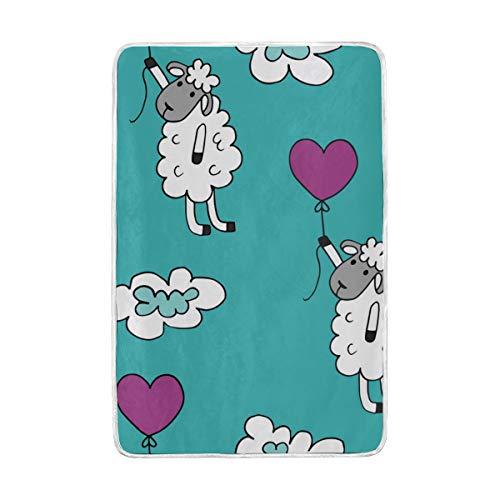 Jonassk Woolffk Sheep Squishy Socks Soft Blanket All Season Comfort Super Soft Warm Plush Blanket Fuzzy Light Warm Wool Blanket Sofa Bed, 60x90 Inches