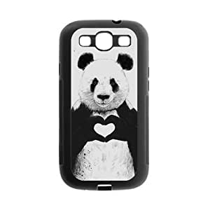 Danny Store Cute Panda Protective TPU Gel Rubber Back Fits Cover Case for SamSung Galaxy S3 hjbrhga1544