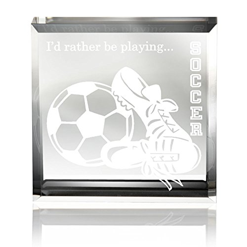 (Kate Posh - I'd Rather be Playing Soccer Keepsake & Paperweight )