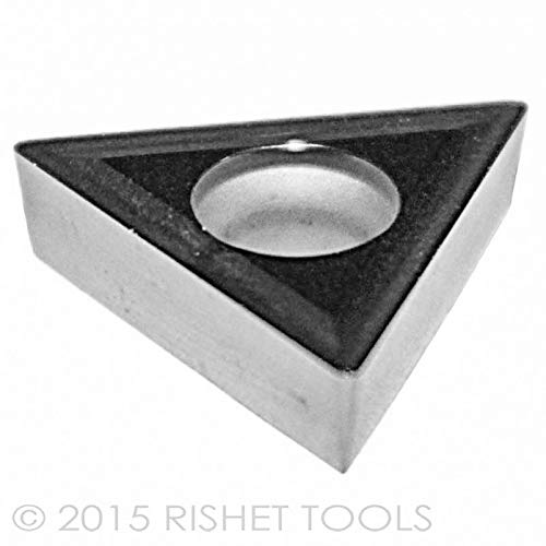 Pack of 10 RISHET TOOLS 10992 TCMT 32.51 C5 Uncoated Bright Finish Solid Carbide Inserts