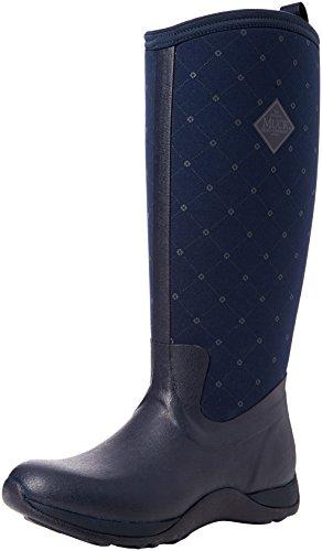 Bleu Boots Pluie navy Castlerock quilted Bottines Arctic Adventure Femme Print Bottes Et Print Muck De wzFxqUF