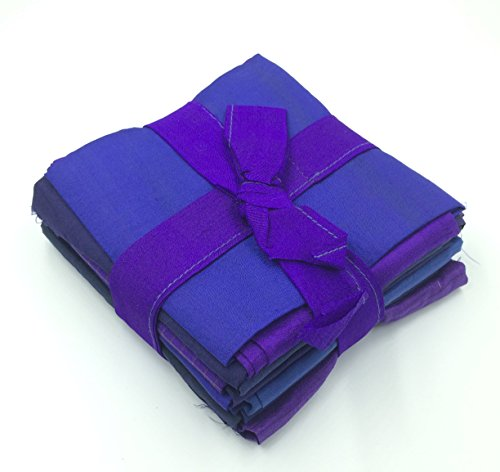 Leilani Arts Dupioni Silk Assorted Fabric Quarters Purple - Purple Silk Fabric