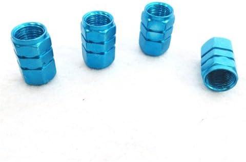 Arpoador 4X Tire Wheel Rims Stem Air Valve Caps Tyre Cover Car Truck Bike Blue ALUMINUM