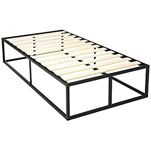 Zinus Modern Studio 6 Inch Platforma Low Profile Bed Frame / Mattress Foundation / Boxspring Optional / Wood slat support, Twin
