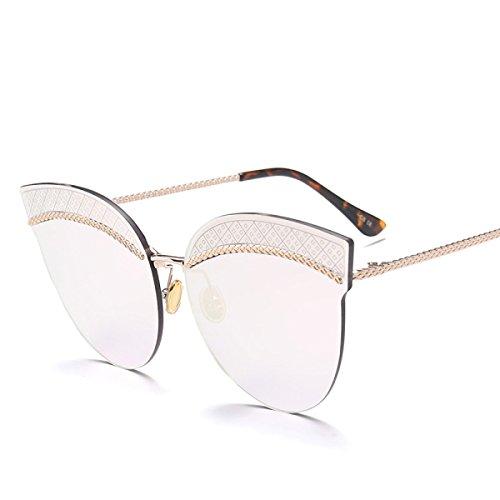 Aoligei Dame de tendance rond polarisé lunettes de soleil grand cadre ANTI-UV lunettes étoiles lunettes de soleil ddJHTwYWa