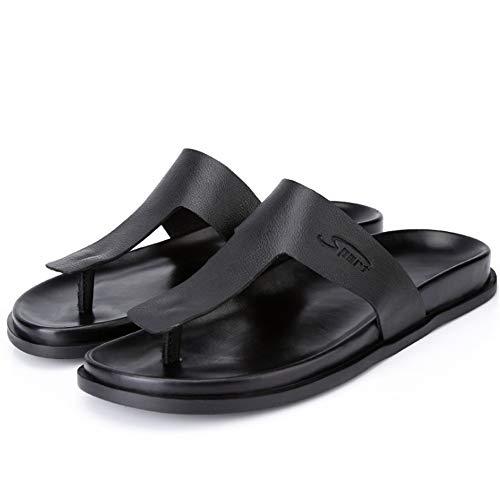 Color 39 Hombres Ocasionales Wangcui Transpirables Cuero Negro Al 3 Zapatos Aire Negro De tamaño Playa Zapatillas De para De Zapatos 1 EU Libre Verano Sandalias Rqw8TR