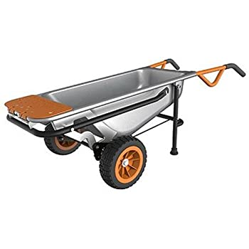 Worx Aerocart Multifunction 2-wheeled Yard Cart, Dolly, & Wheelbarrow With Flat Free Tires - Wg050 0
