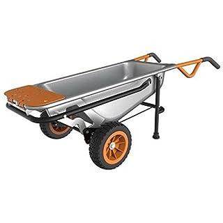 "WORX WG050 Aerocart 8-in-1 All-Purpose Wheelbarrow/Yard Cart/Dolly, 18"" x 12"" x 42"", Orange, Black, and Silver (B00KCIZ5SM) | Amazon price tracker / tracking, Amazon price history charts, Amazon price watches, Amazon price drop alerts"