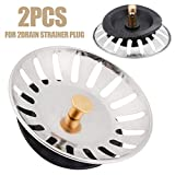 2Pcs Stainless Steel Drain Strainer Plug Home Waste Stopper Kitchen Strainer Plug Stopper Home Cleaning Tool