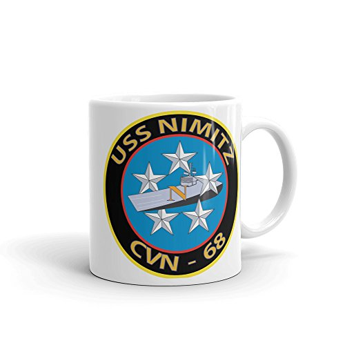 USS NIMITZ LOCKHEED MARTIN F-35 LIGHTNING II JOINT STRIKE FIGHTER MUG. PERFECT LARGE COFFEE CUP FOR ANY US NAVY, AIR FORCE FAN. GREAT GIFT IDEA FOR DAD, GRANDPA OR MILITARY MEMBERS