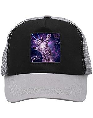 Unisex Cat Laser Adjustable Classic Hiphop Hat Baseball Cap Snapback Dad Hat