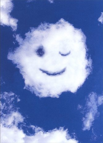 Amazoncom Smiley Face Cloud Blank Card Health Personal Care