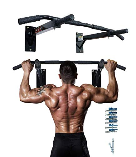 ALLYSON FITNESS Pull Up Bar Wall Mounted Chin Up Bar Home Gym with Ab Strap