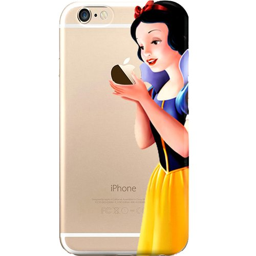 Disney Little Mermaid, Peter Pan, Snow White, Lilo & Stitch, Alice in Wonderland, Aladdin, Mickey & Minnie Mouse, Jelly Clear Case for Apple iPhone 6 Plus /6s Plus (5.5