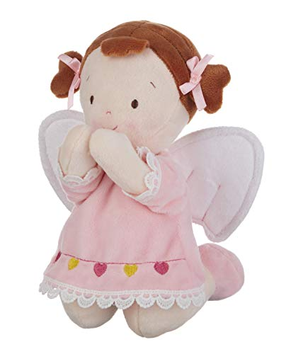 - Girl Baby Angel Kneeling to Pray Pretty Pink 8 inch Soft Plush Fabric Doll