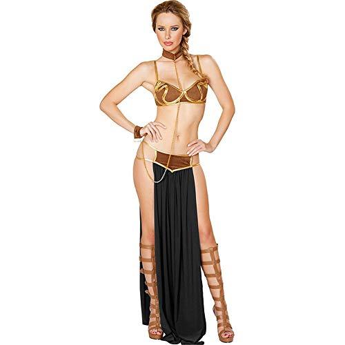 QZ Nightclub Sexy Underwear Clothing Women's Arabian Long Skirt Prom Nightclub Set,Black