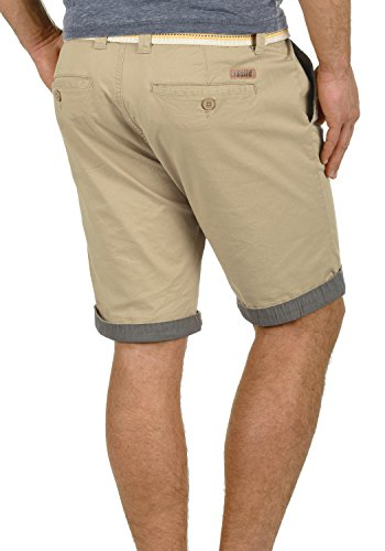 5409 Homme Bermuda Régulaire Extensible Court Lagos solid Chino Short Coupe Pantalon Ceinture Dune gqY7gHCxw