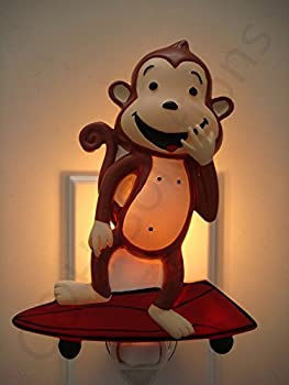 Cute Skateboard Monkey Decorative Night Lights, Night Lamp, Decorations Night Lights By C&H