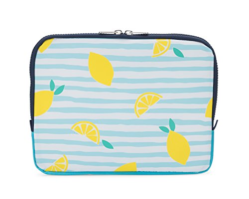 Yumbox Poche - Insulated Sleeve Lunch Box (Amalfi Lemons print); slim and compact, perfect for office and school lunches, to be carried inside a bag or backpack (Insulated Bag Yumbox)