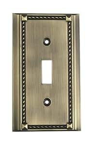Elk 2501AB Antique Brass Single Switch Plate