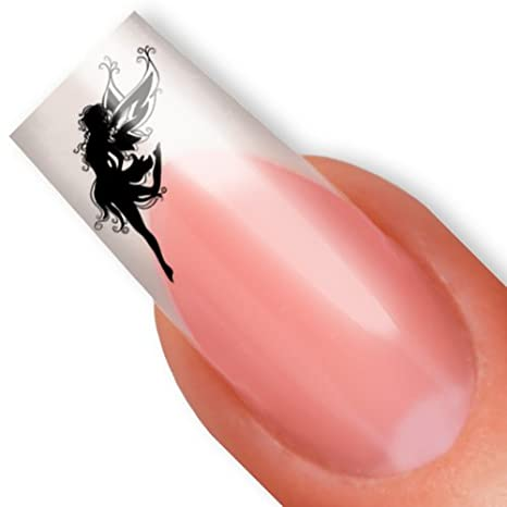 Con diseño de hadas - arte de uñas recortada para pistola de clavos wallkraft/para tatuajes con agarre de duende - de color negro: Amazon.es: Belleza