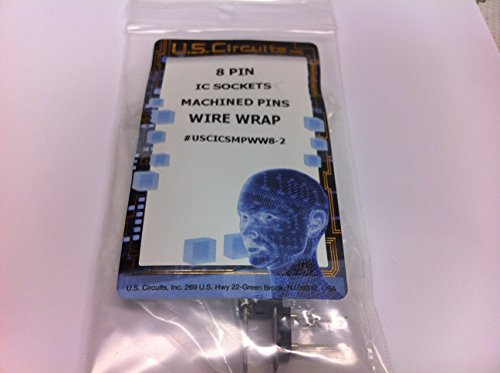 (U.S.Circuits 8 Pin Wire Wrap IC SOCKETS Machined Pins 2 Pack)
