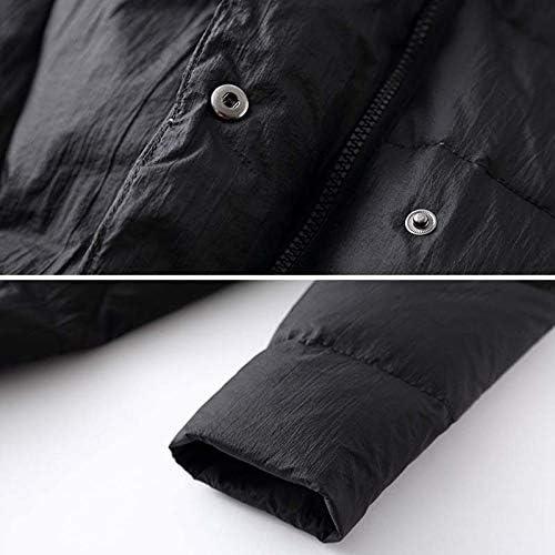 YUFUFU Down Jacket Black High Collar Women's Long Down Jacket Winter Thick Warm Single-Breasted Down Jacket Women's Jacket,Black,M