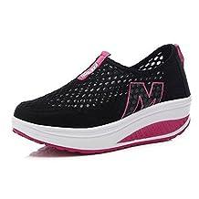 Women's Mesh Slip-On Platform Shoes Fitness Work Out Sneaker