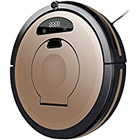 Sedwin Robotic Vacuum Cleaner for Pets and Allergies Home + Hand Vac, Golden, Remote Control Self Charging Cleaning Devices.