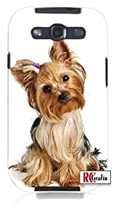 Cool Painting Cute Adorable Yorkshire Terrier Yorkie Dog Unique Quality Hard Snap On Case for Samsung Galaxy S4 I9500 - White Case