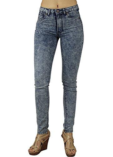 Alfa Global Junior's High-Rise Skinny Acid Wash Denim Pants Size (7 Jeans Womens Juniors Pants)