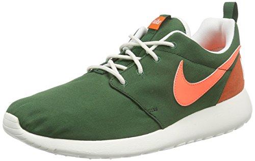 Nike WMNS NIKE ROSHE ONE RETRO - Zapatillas Mujer Verde (Gorge Green / Brght Mango-Sl-Blk)