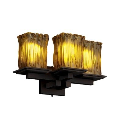 Matte 8676 Mblk (Justice Design GLA-8676-26-WTFR-MBLK Montana - Three Light Wall Sconce, Glass Options: WTRF: White Frosted Glass Shade, Choose Finish: Matte Black Finish, Choose Lamping Option: Standard Lamping)