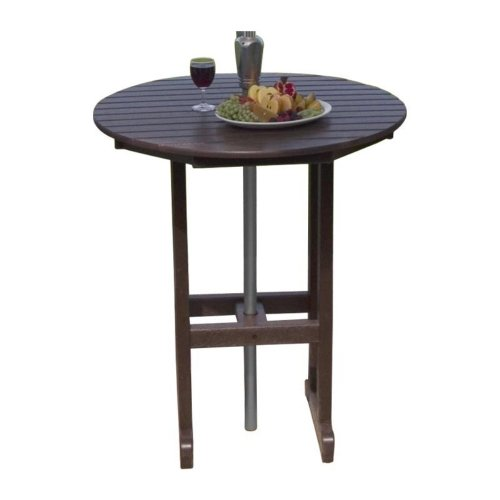 PolyWood RBT236SA Sand La Casa Cafe Round 36″ Bar Table RBT236