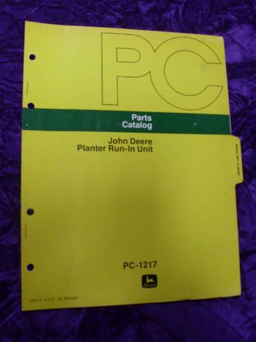 John Deere Planter Run-In Unit OEM Parts Manual