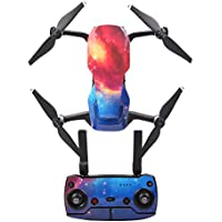 Goolsky Protective Sticker Skin Cover Waterproof Sticker Cool Pattern Starry Sky for DJI Mavic AIR RC Drone and Remote Controller