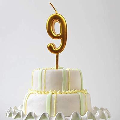 NUOBESTY Número 9 Velas cumpleaños Velas decoración de la ...