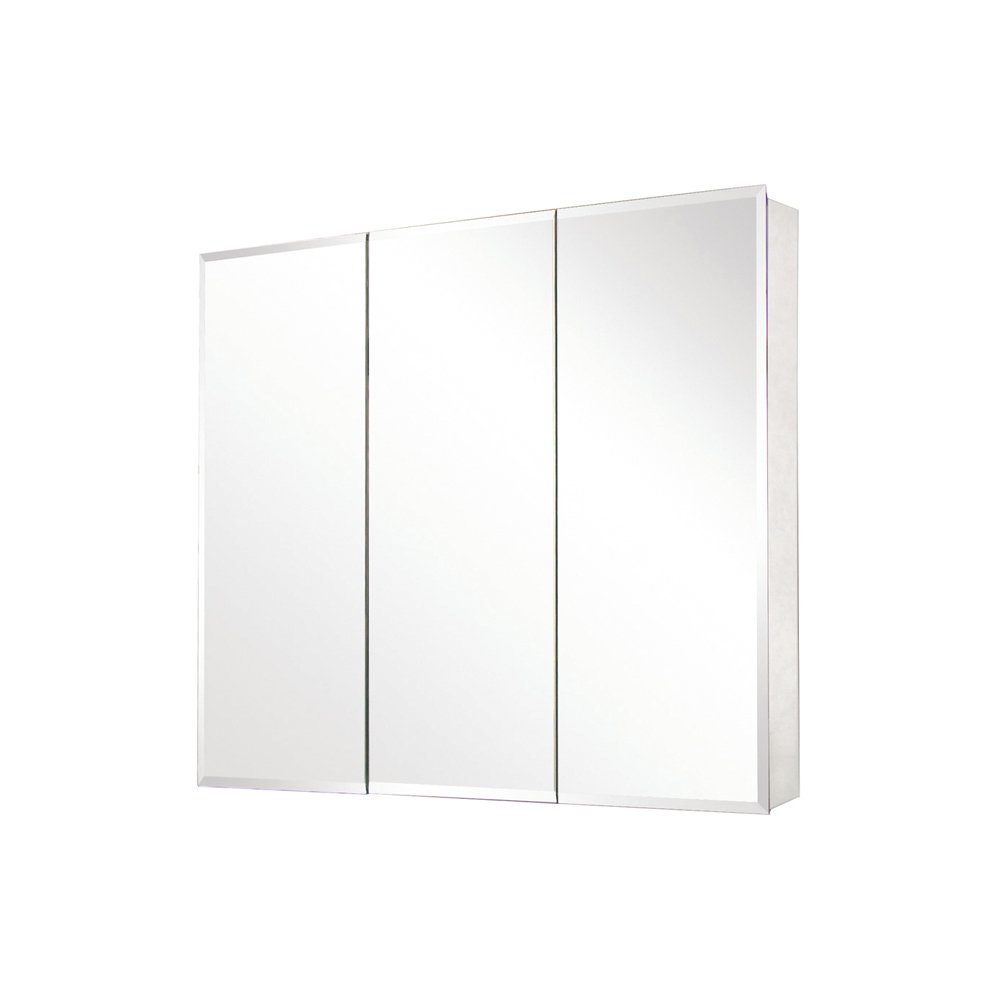Pegasus SP4589 31-Inch by 36-Inch Tri-View Beveled Mirror Medicine Cabinet, Clear by Pegasus
