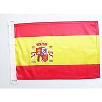 AZ FLAG Bandera Nautica de ESPAÑA 45x30cm - Pabellón de conveniencia ESPAÑOLA 30 x 45 cm Anillos