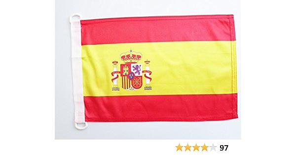 AZ FLAG Bandera Nautica de ESPAÑA 45x30cm - Pabellón de conveniencia ESPAÑOLA 30 x 45 cm Anillos: Amazon.es: Hogar