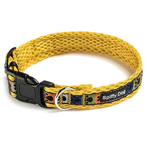 Spiffy Dog Air Collar Yellow Paws Large