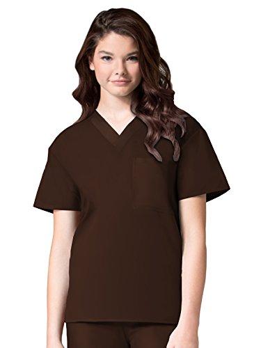 (Maevn Unisex Core V-Neck Top(Chocolate, X-Small))