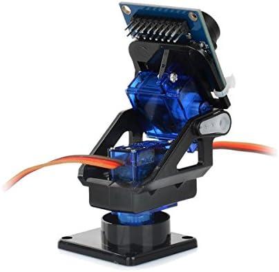 ZHOUYANJUN 2-Achsen-FPV-Kamerahalterungskopf + OV7670-Kamerasatz for Roboter/Ferngesteuertes Auto - Schwarz + Blau